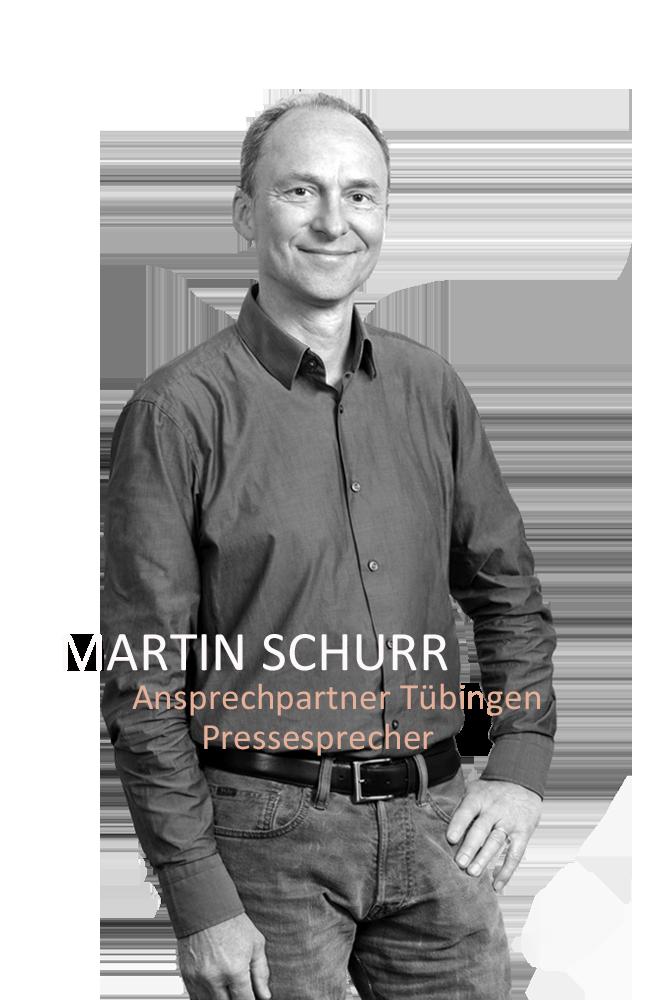 1,Martin Schurr, Ansprechpartner Tübingen Pressesprecher,07071 - 91 04 - 22,m.schurr@volksbau.info